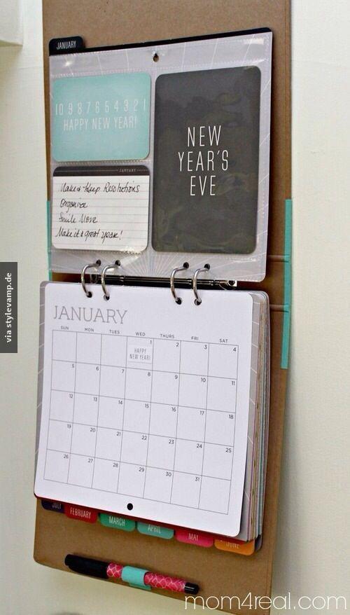Kalenderordner! Das muss ich mir auch anlegen. Genug Platz für Essensplan, Haushaltsbuch und alle To do- Listen:
