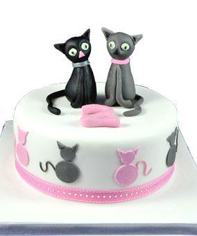 Birthday Cake With Cat Design Birthday Cake Designs