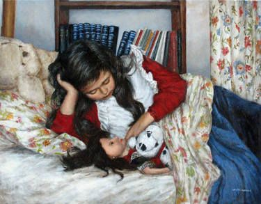 Before Bedtime To purchase a reproduction, go to: http://fineartamerica.com/featured/before-bedtime-sylvia-castellanos.html