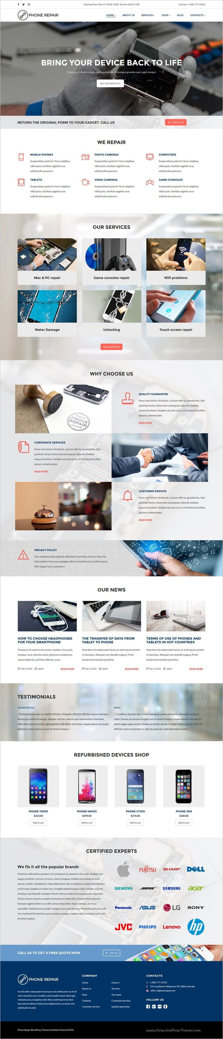 Phone #repair is a wonderful 2in1 responsive #WordPress theme for #websites of entrepreneurs working in the field of electronics repair services, and is ideal for smart phone, mobile device, computer and appliance repair shops download now➩ https://themeforest.net/item/phone-repair-mobile-cell-phone-and-computer-repair-business-wordpress-theme/19191980?ref=Datasata