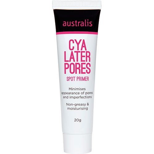 Australis Cosmetics Cya Later Pores Spot Primer (Minimise the appearance of pores and other imperfections with this non-greasy and moisturising primer). $18.95