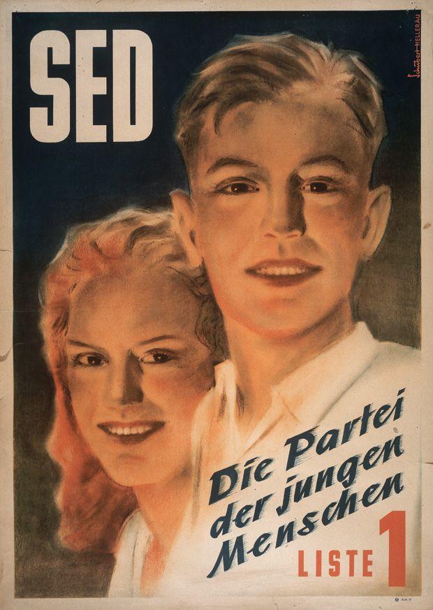 Werbeplakat für die SED, 1946