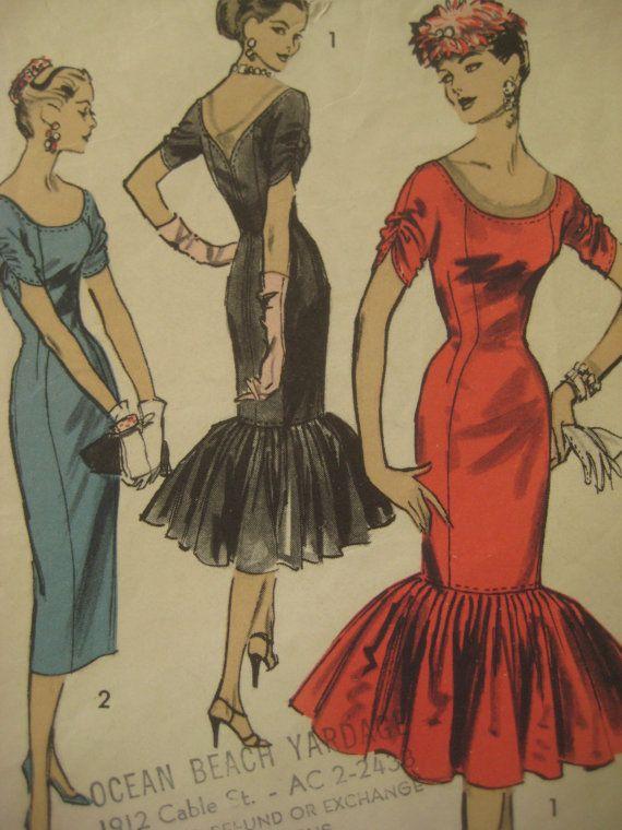 Vintage Advance 7942 Sewing Pattern, Suzy Perette Dress, Princess Sheath, Vintage Size 14
