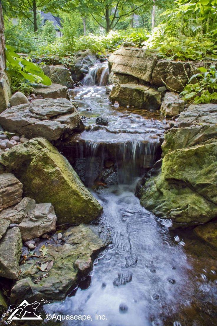 Beautiful Backyard Waterfall and Stream - Aquascape Inc. # ...