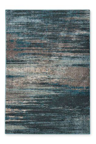 Teal Abstract Stripe Rug Studio Collection By Next