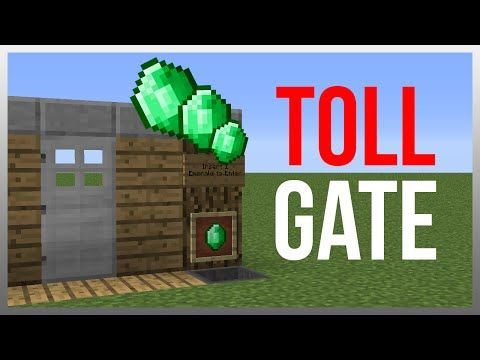 Minecraft 1.9: Redstone Tutorial - Toll Gate v2! - YouTube