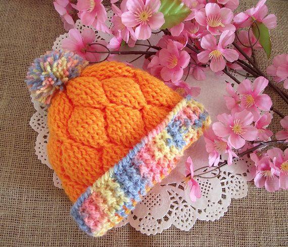 CROCHET PATTERN Baby Hat pattern   Diamonds by LiliaCraftParty