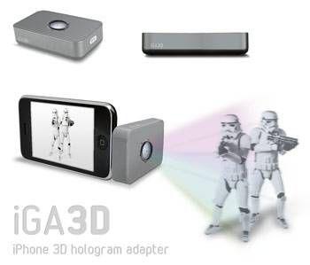 iphone holodeck projektor