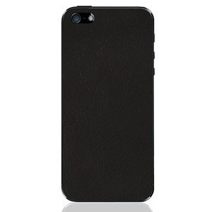 iPhone 5 Leather Back Black