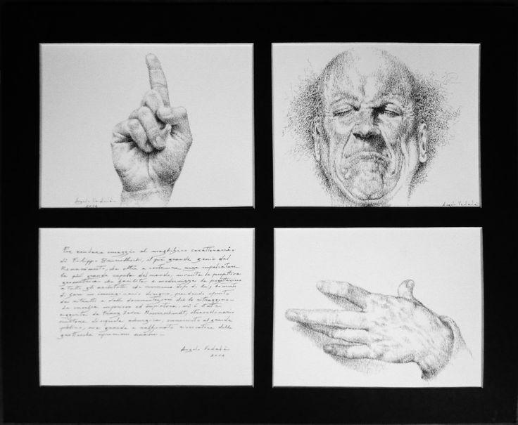 disegno achina su carta-di ANGELO VADALA'- BRUNELLESCHI