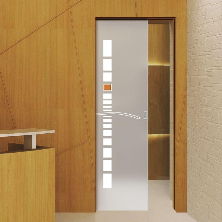 68 best Syntesis line single frameless glass pocket doors