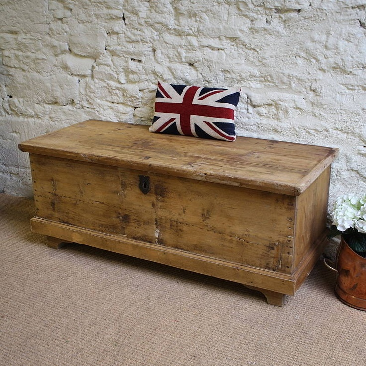 Vintage trunk...would make a great coffee table/blanket box