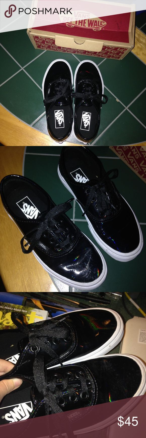Leather Vans Patent leather vans, size 3.5 in men and 5 in women's Vans Shoes