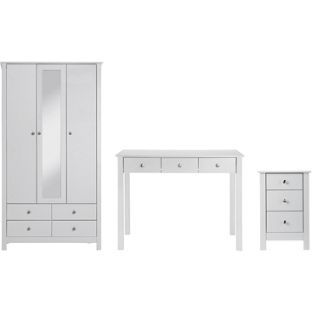 Buy Osaka 3 Piece Dressing Table Package - White at Argos.co.uk - Your Online Shop for Bedroom suites and packages.