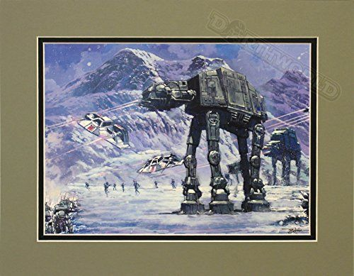 "Star Wars Battle of Planet Hoth AT-AT Walker 8"" x 11"" Image Size Lithograph on Paper Art by Rodel Gonzalez //Price: $30 & FREE Shipping //     #starwarsmeme"