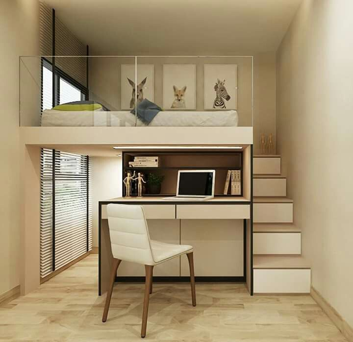 semi loft bed bedroom pinterest hochbetten hochbett selber bauen und hohen decken. Black Bedroom Furniture Sets. Home Design Ideas