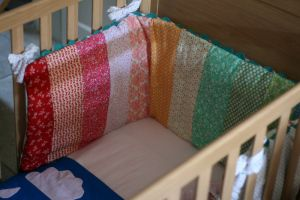 how to make your own cot bumper #craft #tutorial #sewing #baby
