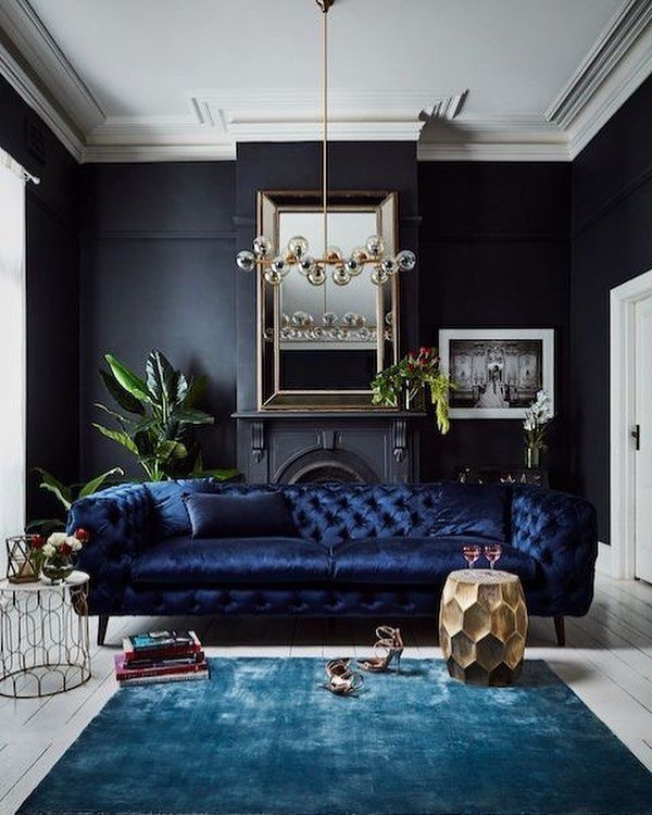 54 The Coolest Living Room Design For Your Home Modern Decor Dark Rooms Interior Wall Colors