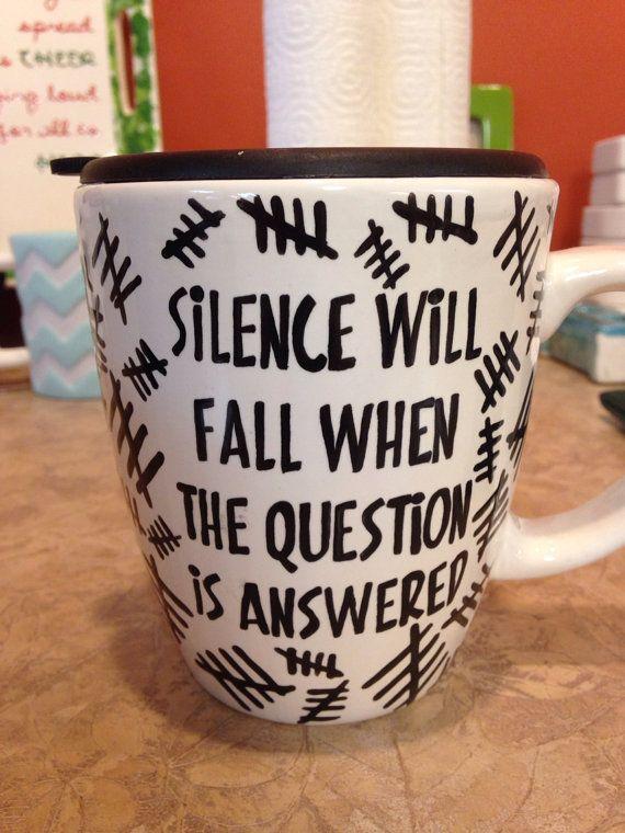 Sweet Silence mug from Doctor who