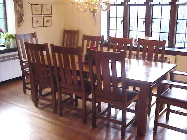 Mission Style Extension Table With 4 To 10 Chairs. Allentown PA Via Etsy.