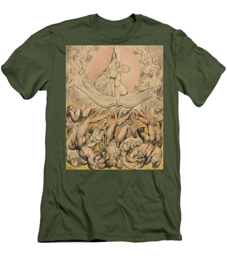 The Men's T-Shirt (Athletic Fit) featuring the painting The Casting Of The Rebel Angels Into Hell 1808 by Blake William
