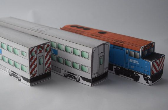 NEW THINGS! Metro (Metra) variant American Commuter Train by PrecisePapercraft