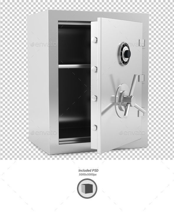 Safe (Photoshop PSD, CS, 5000x5000, 5x5, 3d, alpha, background, bank, banking, box, business, finance, illustration, insurance, lock, metal, protection, render, safe, safety, savings, security, shadow, shielding, small, stainless, steel, storage, strength, transparent, wealth) #FinanceIllustration