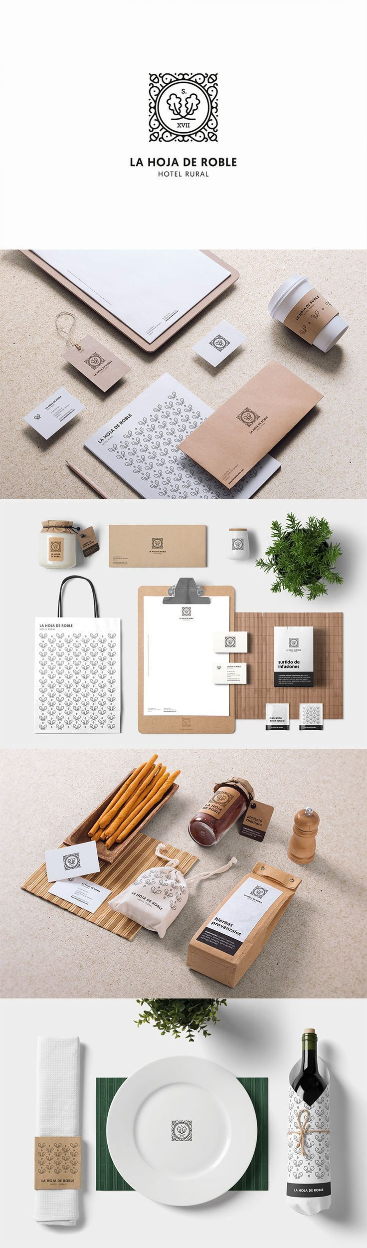 Branding for La Hoja de Roble. Simple and classy. | Hotel advertising | Hotel promotion | Hotel campaign | Hotel communication | Hotel visual identity | Hotel graphic design | Hotel social media | Hotel logo | Logo design | Hospitality design | Hotel logo design | Hotel brand identity | Hotel branding |