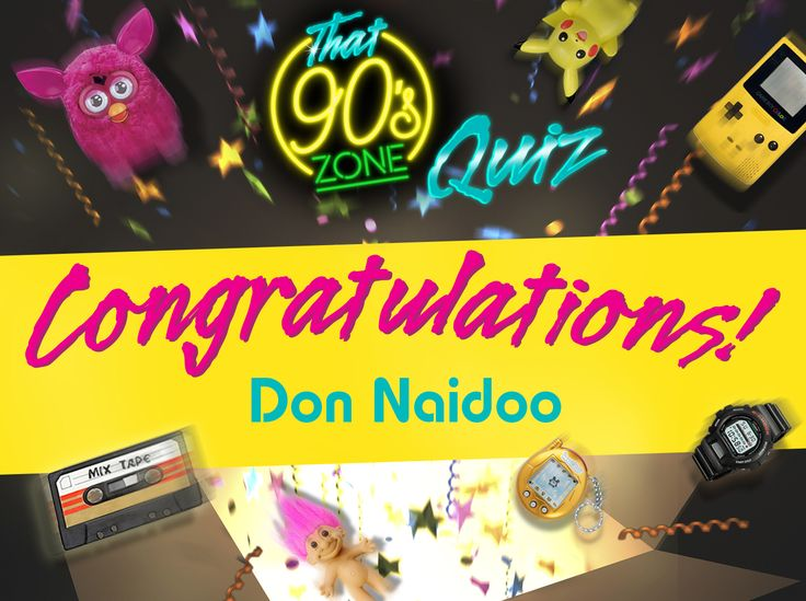 You've aced the quiz and correctly quessed which basketball player appeared in the movie 'Space Jam', what year the Social Union collapsed and who played Batman in the '97 'Batman and Robin' movie…  A big congratulations to Don Naidoo! You're the lucky winner of R5,000!  Thank you to everyone for participating and making this so much fun! #YourDriveSince95