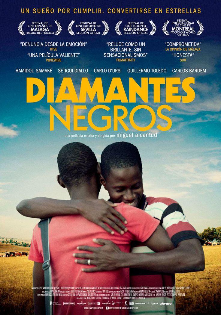 'Diamantes negros' (España, 2013). Dos jóvenes de Mali, tras ser captados por un ojeador de fútbol, llegan a Madrid dispuestos a triunfar.