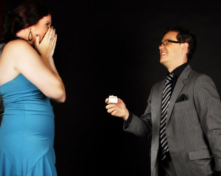 This is the happy moment... my fiance and I were getting photos taken at Starshots Knox and at the end of the photoshoot he knelt down and asked me to marry him while the photographer got it all on camera (March 2013)