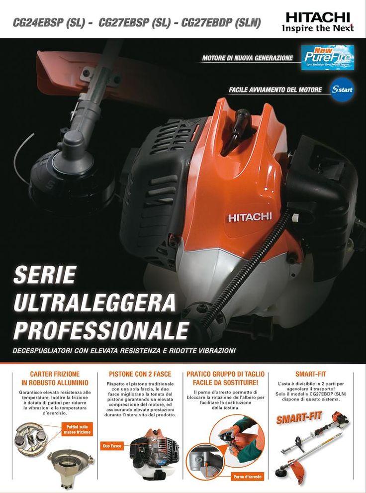 Decespugliatori Hitachi: nuova serie ultraleggera professionale con elevata reistenza e vibrazioni ridotte!