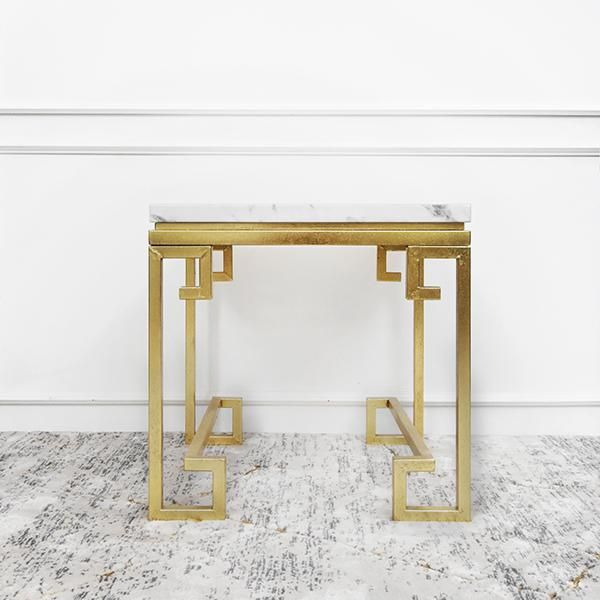 Galatea Marble End Table Ivory Gold Marble End Tables House Furniture Design Marble Side Tables