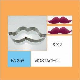 Categoría: Cortantes Metalicos Galletas - Producto: Cortante Metal Mostacho - Fa356 - Envase: Unidad - Presentación: X Unid. - Marca: Flogus