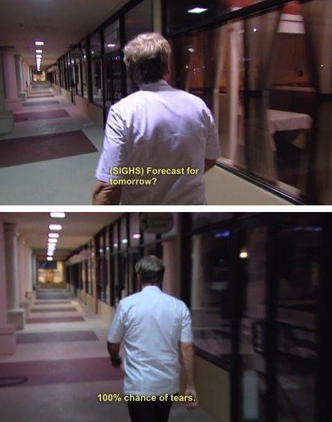 Gordon Ramsay has seen enough sadness