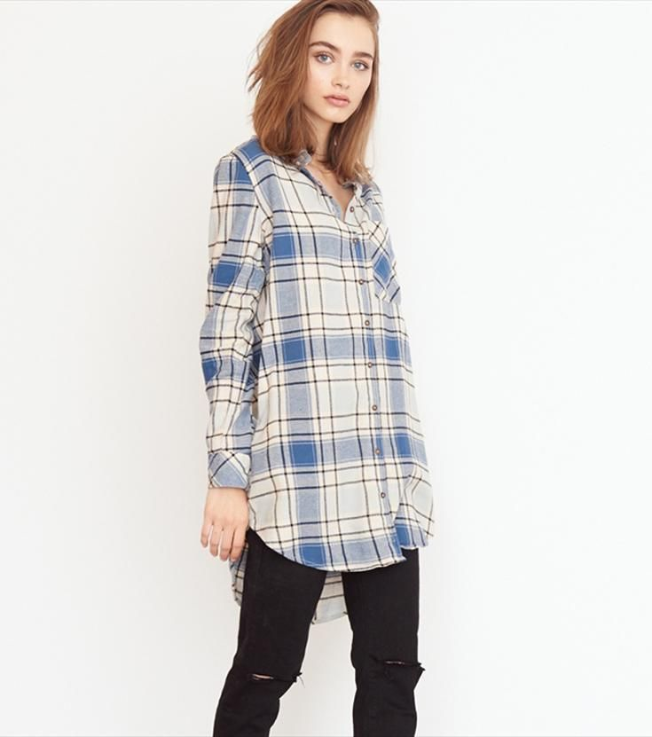 Tunic Flannel Shirt