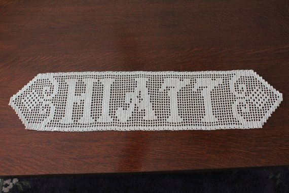 17 Best Images About Crocheted Family Names On Pinterest