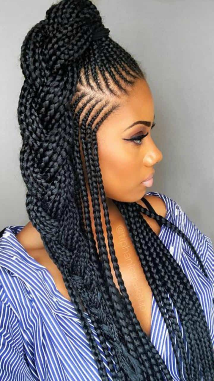 100 African Braids Hairstyle Pictures To Inspire You Thrivenaija Hair Style Africanbr In 2020 African Braids Hairstyles Braided Hairstyles Braids Hairstyles Pictures