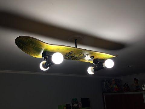 Deckenlampe Selber Bauen Anleitung : skateboard led lampe selber bauen anleitung youtube ~ Watch28wear.com Haus und Dekorationen
