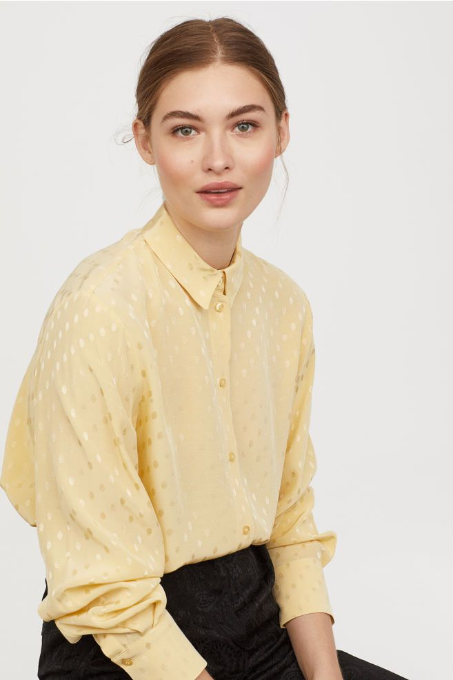 c3e6838db2cb Crepet skjorte i 2019 | Dream | Shirts, Mens tops og Ruffle blouse