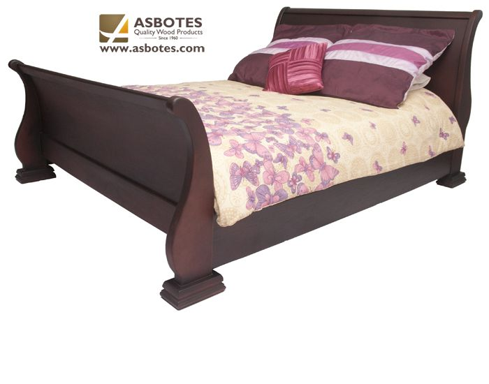 Bentwood Bed (Double) (Exclude bedding & mattress) Available in various colours. For more details contact us on (021) 591-0737 or go to our website www.asbotes.com