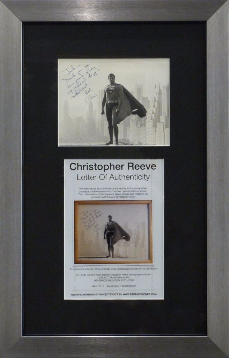 61 best custom frames images on pinterest frame frames and highlight of the week superman christopher reeve photo with his autograph letter of jeuxipadfo Choice Image