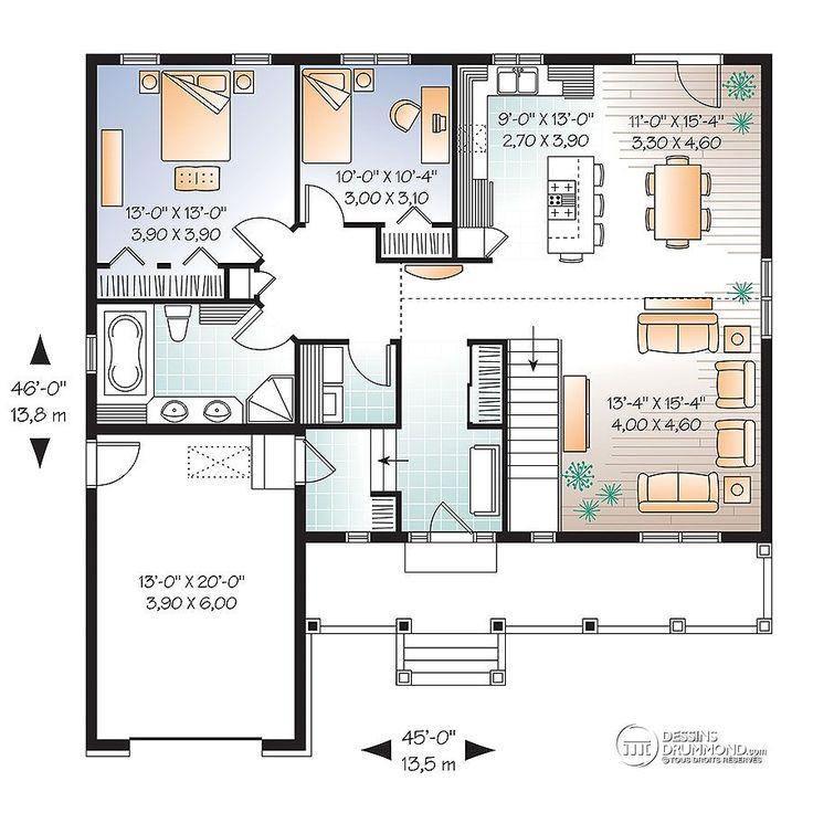 Détail du plan de Maison unifamiliale W3262