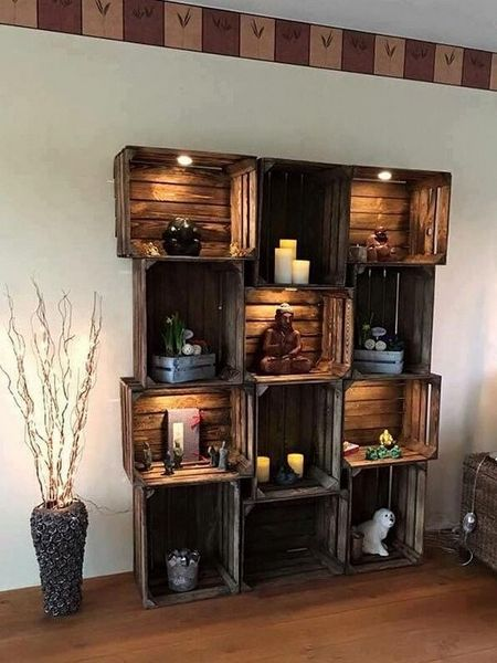Upcycling-Ideen: Weinkisten Regal(Diy Pallet Bar)