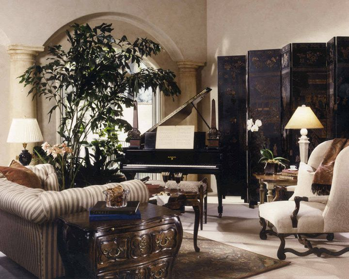 British Colonial decor ... already have the mahogany shutters ... since tumor, will have to sell my grand piano ... too sad after a life time of playing