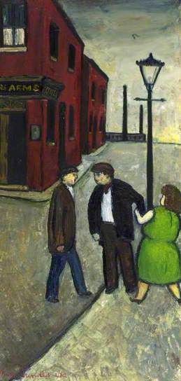 """The Row"" 1962. Oil by Alan Lowndes. (1921-1978)..Lad from Stockport. 