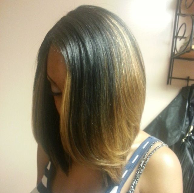 97 best shorter hair images on pinterest hairstyle make up and highlighted bob pmusecretfo Image collections