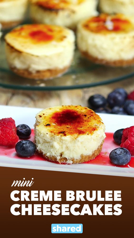 Mini Crème Brûlée Cheesecakes
