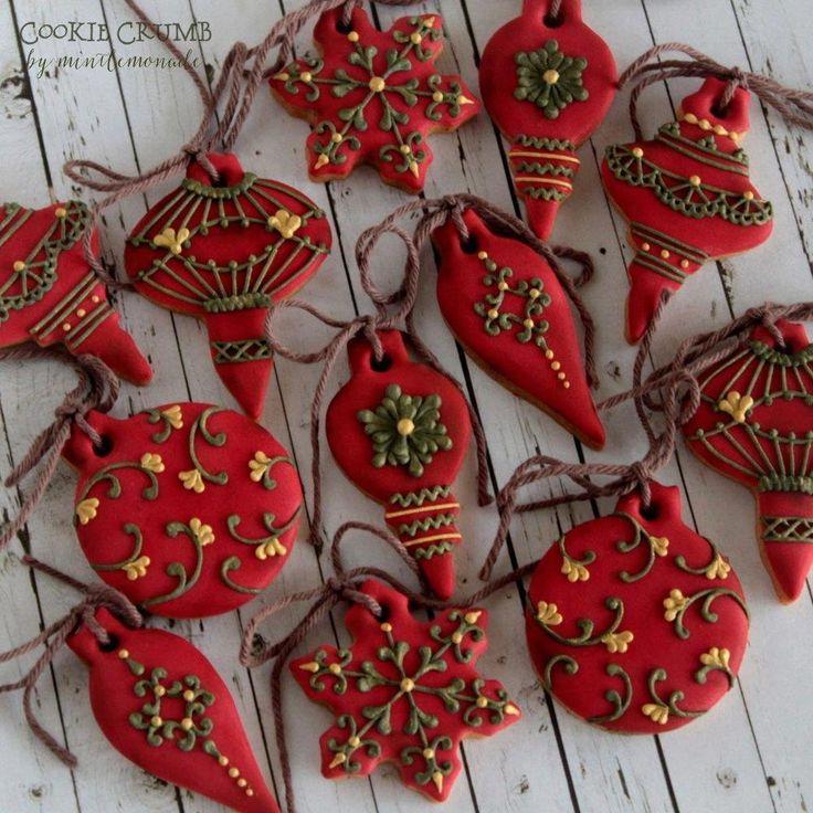 los mini ornamentos de Navidad