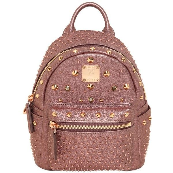 MCM Extra Mini Bebe Boo Special Backpack (1,920 CAD) ❤ liked on Polyvore featuring bags, backpacks, miniature backpack, crossbody backpack, mcm backpack, red fanny pack and mini backpack